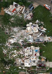 Aerial View of Tornado Damage